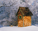 Outhouse in the Eastern Sierra, California