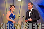 Toronto Rose Máire Dineen chats to presenter Dáithí Ó Sé during the Rose Selection on Monday night at the Dome.