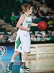 North Texas Mean Green guard Barbara-Scott Kolb (10) in action during the game between the Troy Trojans and the University of North Texas Mean Green at the North Texas Coliseum,the Super Pit, in Denton, Texas. UNT defeats Troy 57 to 36.