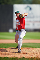 Great Lakes Loons pitcher J.D. Underwood (38) delivers a pitch during a game against the Clinton LumberKings on August 16, 2015 at Ashford University Field in Clinton, Iowa.  Great Lakes defeated Clinton 3-2 in ten innings.  (Mike Janes/Four Seam Images)