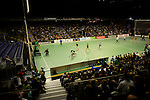 Berlin, Germany, January 31: General view during the 1. Bundesliga Herren Hallensaison 2014/15 semi-final hockey match between Harvestehuder HTC(black/yellow) and HTC Uhlenhorst Muehlheim (white/green) on January 31, 2015 at the Final Four tournament at Max-Schmeling-Halle in Berlin, Germany. Final score 6-3 (2-2). (Photo by Dirk Markgraf / www.265-images.com) *** Local caption ***