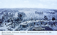 Mesa Verde, Colorado. Pueblo. Development period. CA. 850. Reconstruction.