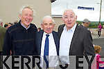 Dan McCarthy, Dan Kennelly and Martin Crowley pictured at the Centenary of Kilflynn school on Sunday.