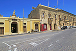 Historic buildings village street and folklore museum in  Gharb, Gozo, Malta