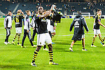 Solna 2015-10-04 Fotboll Allsvenskan AIK - Malm&ouml; FF :  <br /> AIK:s Dickson Etuhu firar segern efter matchen mellan AIK och Malm&ouml; FF <br /> (Foto: Kenta J&ouml;nsson) Nyckelord:  AIK Gnaget Friends Arena Allsvenskan Malm&ouml; MFF jubel gl&auml;dje lycka glad happy