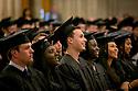 Prospective graduates listen during Baccalaureate Service at Duke Chapel.