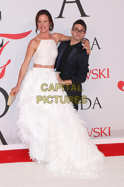NEW YORK, NY - JUNE 1: Juliette Lewis and Christian Siriano at the 2015 CFDA Fashion Awards at Alice Tully Hall, Lincoln Center in New York City on June 1, 2015. <br /> CAP/MPI/COR99<br /> &copy;COR99/MPI/Capital Pictures