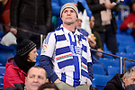 Real Sociedad's supporter during La Liga match between Real Madrid and Real Sociedad at Santiago Bernabeu Stadium in Madrid, Spain. January 29, 2017. (ALTERPHOTOS/BorjaB.Hojas)