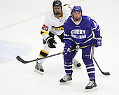 Ben Iwanowski (WIT - 20), Shane Harrington (Curry - 2) - The Wentworth Institute of Technology Leopards defeated the visiting Curry College Colonels 1-0 on Saturday, November 23, 2013, at Walter Brown Arena in Boston, Massachusetts.
