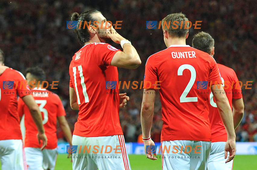 11 GARETH BALE (wal) - Gol Esultanza <br /> Toulouse 20-06-2016 Stade de Toulouse Football Euro2016 Russia - Wales / Russia - Galles Group Stage Group B. Foto Philippe LECOEUR / Panoramic / Insidefoto