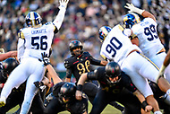 PHILADELPHIA, PA - DEC 8, 2018: Army Black Knights kicker Will Hetzinger (96) misses on a short field goal a tempt during game between Army and Navy at Lincoln Financial Field in Philadelphia, PA. BLANK defeated BLANK to win the Commander in Chief Cup. (Photo by Phil Peters/Media Images International)