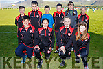 Pictured at the final of the Mick O'Dwyer Tournament in Waterville on Saturday between Dromid & Macroom were front l-r; Evan O'Shea, Holly Galvin, Emily O'Sullivan, Lauren Fitzgerald, back l-r; Marcus Draper, Darragh O'Dwyer, James Galvin, Bernard O'Dwyer, Sarah Murphy & Clodagh Dwyer.  Macroom won the tournament by one point after extra time.