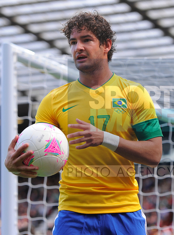 Brazil's Alexandre Pato.Brazil v Belarus Olympic 2012 Group C match at Old Trafford, Manchester United Kingdom on the 29th July 2012..Pic Simon Bellis/SPORTIMAGE.