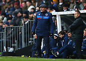 17th March 2018, Craven Cottage, London, England; EFL Championship football, Fulham versus Queens Park Rangers; Queens Park Rangers manager Ian Holloway watches his players from the touchline