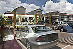 The showroom at the eleite car dealership DT Dobie in Nairobi, Kenya.