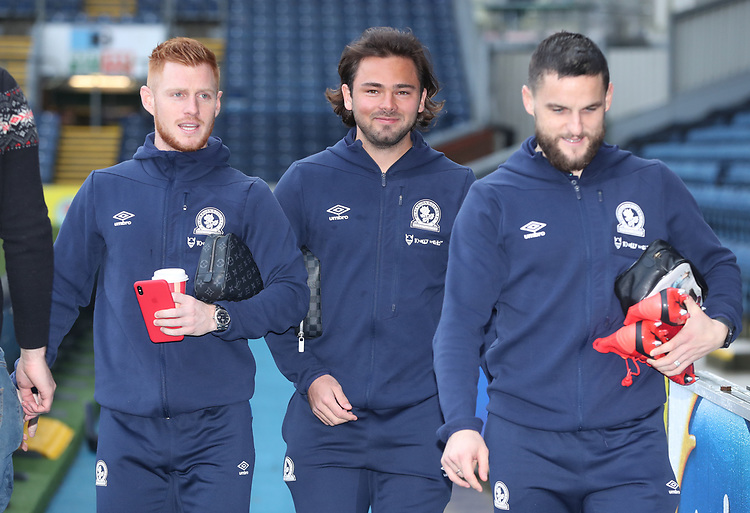 Blackburn Rovers' Harrison Reed, Blackburn Rovers' Bradley Dack and Blackburn Rovers' Craig Conway<br /> <br /> Photographer Rachel Holborn/CameraSport<br /> <br /> The EFL Sky Bet Championship - Blackburn Rovers v Sheffield Wednesday - Saturday 1st December 2018 - Ewood Park - Blackburn<br /> <br /> World Copyright &copy; 2018 CameraSport. All rights reserved. 43 Linden Ave. Countesthorpe. Leicester. England. LE8 5PG - Tel: +44 (0) 116 277 4147 - admin@camerasport.com - www.camerasport.com