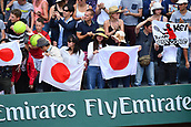 4th June 2017, Roland Garros, Paris, France; French Open tennis championships;  Kei Nishikori (Jap) supporters show their colours as he beats Chung in 5 hard sets