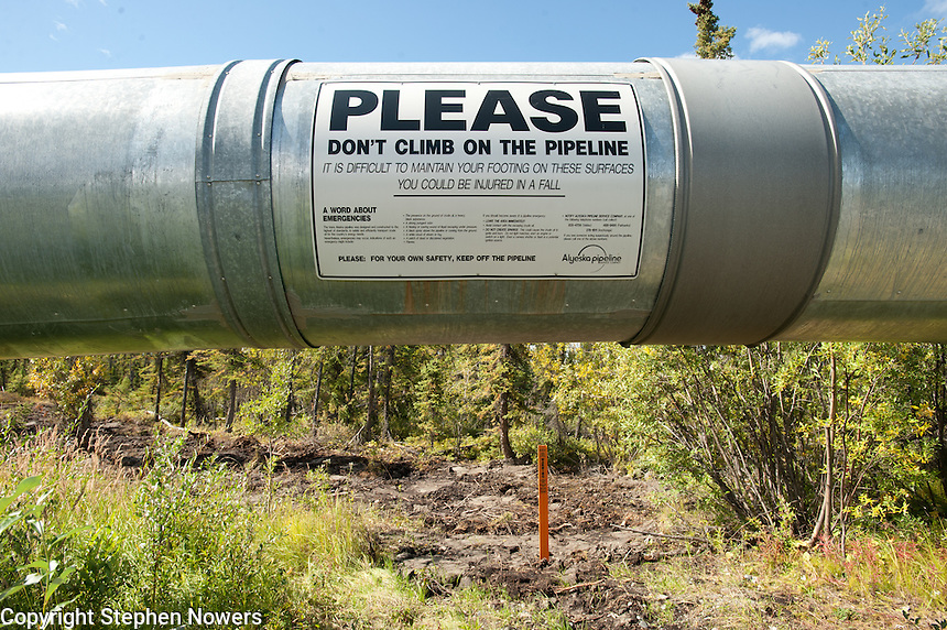 The Trans-Alaska Pipeline near the city of Glennallen.