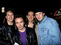 le groupe de musique francophone Zebulon, Octobre 1994<br /> <br /> PHOTO :  Agence Quebec Presse
