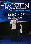 John Riddle and Robert Creighton  during the Actors' Equity Opening Night Gypsy Robe Ceremony honoring Jeremy Davis for 'Frozen' at the St. James Theatre on March 22, 2018 in New York City.
