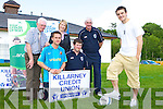 Glasgow Celtic star Diarmuid Carroll launches the Killarney Athletic 7-a-side tournament, which will be starting on 30th June, in Athletic's Woodlawn pitch Monday evening l-r: Don O'Donoghue, Gary Moynihan, Karena McCarthy, Toirdealbhach O'Lionaird, and Donie Murphy    Copyright Kerry's Eye 2008
