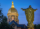 July 27, 2016; Dome and Main Quad Jesus statue (Photo by Matt Cashore/University of Notre Dame)