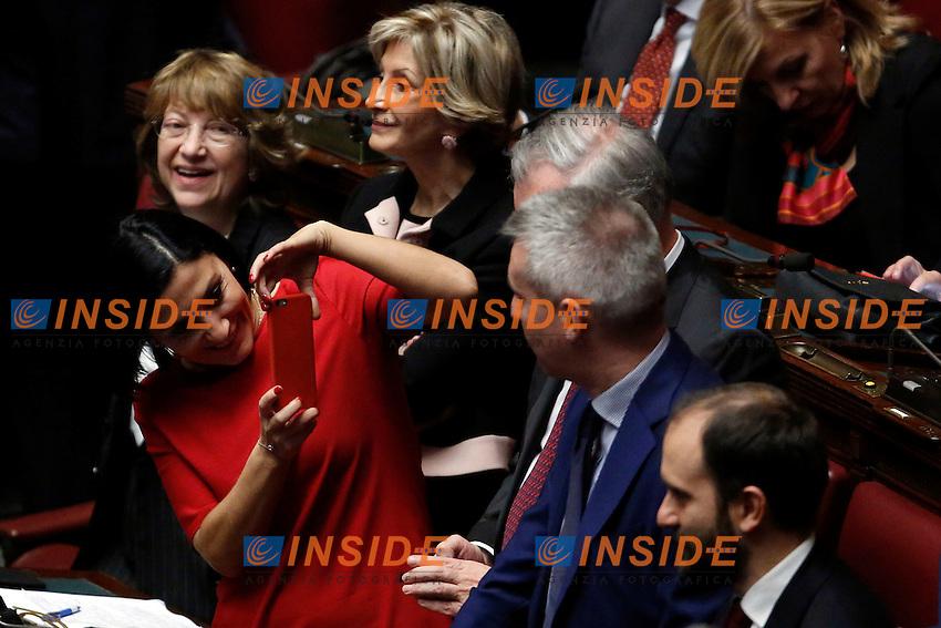 Alessia Morani fa una foto a Lorenzo Guerini<br /> Roma 31-01-2015 Camera. Elezione del Presidente della Repubblica. Al quarto scrutinio e' stato eletto il nuovo Presidente.<br /> Lower Chamber. Elections for the President of the Republic. The president has been elected at the fourth votation.<br /> Photo Samantha Zucchi Insidefoto