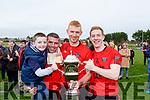 fionn O'Mahony, Stephen O'sullivan, Kieran Doyle the and Pa Kilkenny celebrate winning the Mid kerry final against Laune Rangers in Killorglin on Sunday