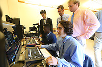 Technology class using video and music to create at the Blue Ridge School in Greene County, Va. Photo/Andrew Shurtleff