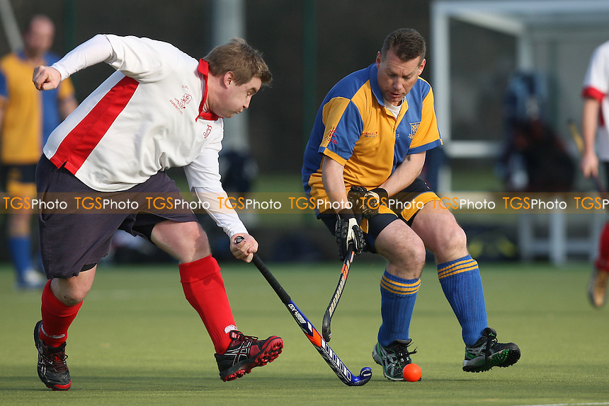 Upminster HC 3rd XI vs Colchester HC 3rd XI - East Hockey League at Cooper Coborn & Company School - 28/01/12 - MANDATORY CREDIT: Gavin Ellis/TGSPHOTO - Self billing applies where appropriate - 0845 094 6026 - contact@tgsphoto.co.uk - NO UNPAID USE.