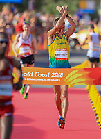Australia's Dane Bird-Smith takes gold in the means 20km race walk, Commonwealth Games, Gold Coast, Australia. Sunday 8 April, 2018. Copyright photo: John Cowpland / www.photosport.nz