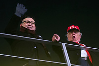 PYEONGCHANG,SOUTH KOREA,09.FEB.18 - OLYMPICS - Olympic Winter Games PyeongChang 2018, official opening ceremony. Image shows impersonators of Kim Jong-un and Donald Trump. Photo: GEPA pictures/ Matic Klansek / Copyright : Explorer-media