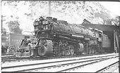 D&amp;RGW 2-8-8-2 #3504 at Thistle engine house.<br /> D&amp;RGW  Thistle, UT  Taken by Perry, Otto C. - 8/10/1935