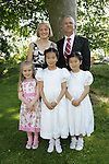 Lynn and Anna Victory with parents Martin and Edel, and sister Laura at First Communion in Sandpit on Saturday