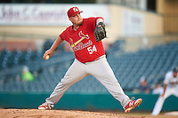 Palm Beach Cardinals relief pitcher Kyle Grana (54) during a game against the Jupiter Hammerheads on August 13, 2016 at Roger Dean Stadium in Jupiter, Florida.  Jupiter defeated Palm Beach 6-2.  (Mike Janes/Four Seam Images)