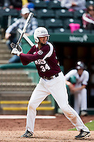 Spencer Johnson #34 of the Missouri State Bears at bat during a game against the Wichita State Shockers at Hammons Field on May 5, 2013 in Springfield, Missouri. (David Welker/Four Seam Images)