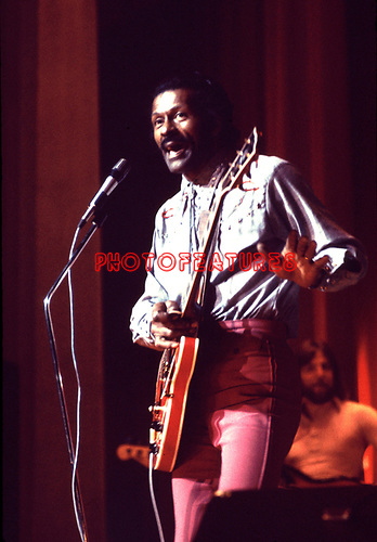 CHUCK BERRY 1975<br /> <br /> &copy; Chris Walter<br /> <br /> Photofeatures International