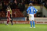 Aberdeen v St Johnstone…22.09.16.. Pittodrie..  Betfred Cup<br />A gutted Murray Davidson at full time<br />Picture by Graeme Hart.<br />Copyright Perthshire Picture Agency<br />Tel: 01738 623350  Mobile: 07990 594431