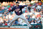 5 September 2009: Minnesota Twins' pitcher Jon Rauch in action against the Cleveland Indians at Progressive Field in Cleveland, Ohio. The Twins defeated the Indians 4-1 in the second game of their three-game weekend series. Mandatory Credit: Ed Wolfstein Photo