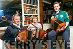 At the Fleadh Cheoil Chiarrai official launch in the Ashe Hotel on Friday were Nick O'Mahony, Breda O'Carroll and Jack O'Sullivan