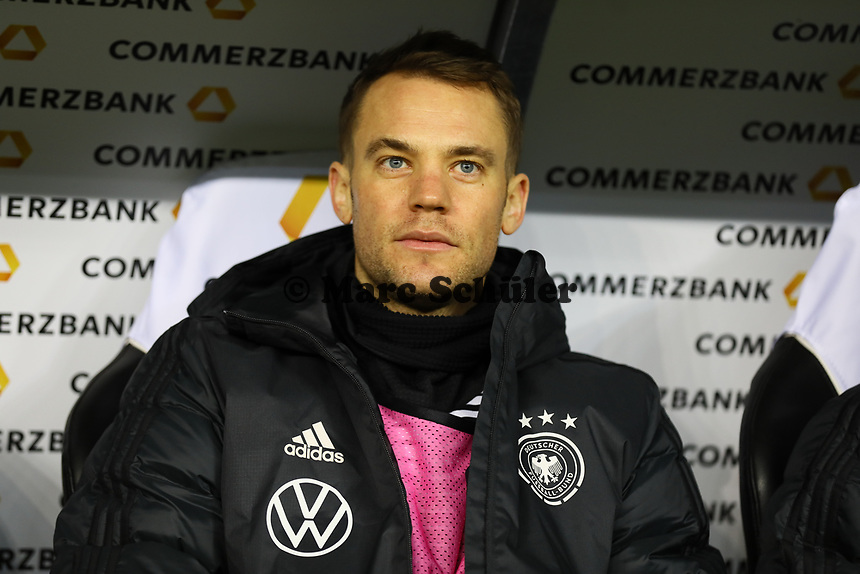 Torwart Manuel Neuer (Deutschland Germany) - 19.11.2019: Deutschland vs. Nordirland, Commerzbank Arena Frankfurt, EM-Qualifikation DISCLAIMER: DFB regulations prohibit any use of photographs as image sequences and/or quasi-video.