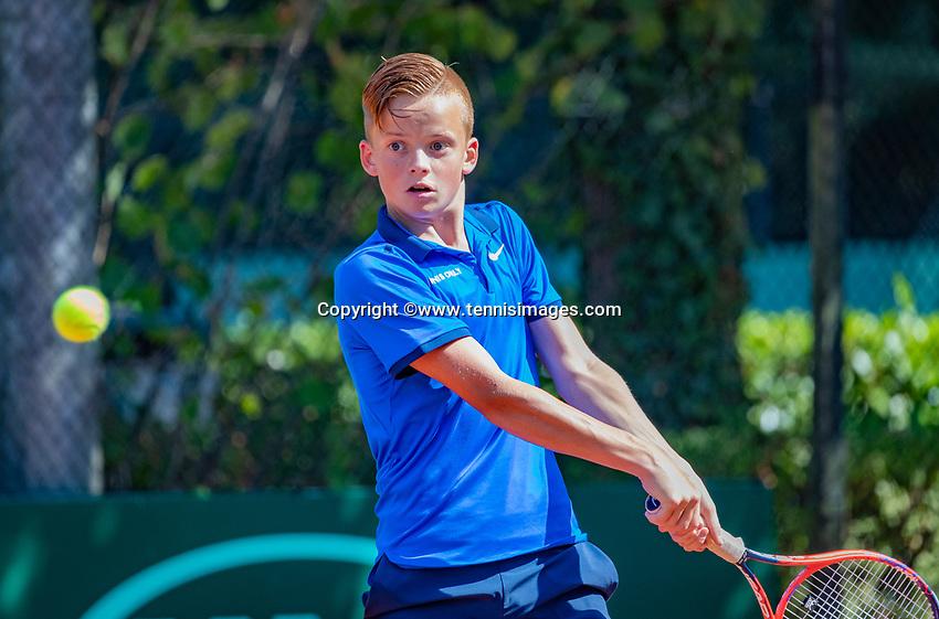 Hilversum, Netherlands, August 6, 2018, National Junior Championships, NJK, Colin  Standaart (NED)<br /> Photo: Tennisimages/Henk Koster