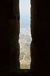 View From Window of Tower Lookout, St. Hilarion Castle
