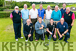 At Ballyheigue Castle Golf Club President Prize Day on Sunday were Front l-r  Edmund Harty, Kyle Reidy, Brian McGrath and John White. Back l-r  John Lohan, Captain, Jer Lynch, John Slattery, President, James O'Dowd, Liam O'Mahony, John Barrett, Earl McMahon and Tim Kenny, past Captain and past President