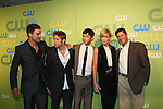 Colin Egglesfield & Shaun Sipos & Michael Rady & Katie Cassidy & Thomas Calabro  at the CW Upfront 2009 on May 21, 2009 at Madison Square Gardens, New York NY. (Photo by Sue Coflin/Max Photos)