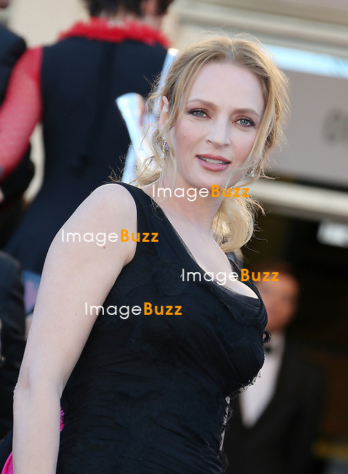 CPE/Actress Uma Thurman attends the 'The Immigrant' premiere during The 66th Annual Cannes Film Festival at the Palais des Festivals on May 24, 2013 in Cannes, France.