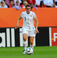 Heather O'Reilly of team USA during the FIFA Women's World Cup at the FIFA Stadium in Dresden, Germany on June 28th, 2011.