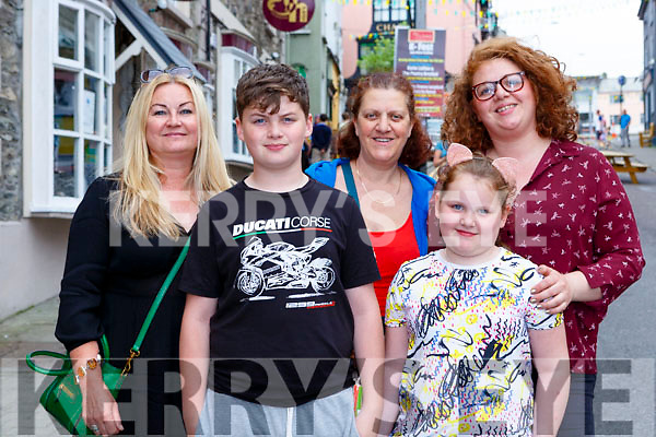 Emma Coutts, Tadhg Maguire, Mary Horan, Frankie Maguire, and Tara Maguire Killorglin at Kfest in Killorglin on Sunday