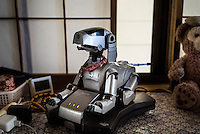 The Sony AIBO. In 1999, Sony released a series of robotic pets called AIBO or Artificial Intelligence Robot. In 2006, they discontinued the AIBO line and then in 2014, discontinued all reparair services on the AIBO. A small community of AIBO owners still exists and a new repair service has emerged to help keep the AIBOs running.