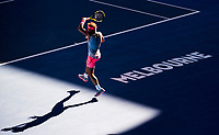 Rafael Nadal (ESP) during his match with Leonardo Mayer (ARG).  Australian Open Tennis Championships, Melbourne Park, Melbourne, Australia.17th January 2018.
